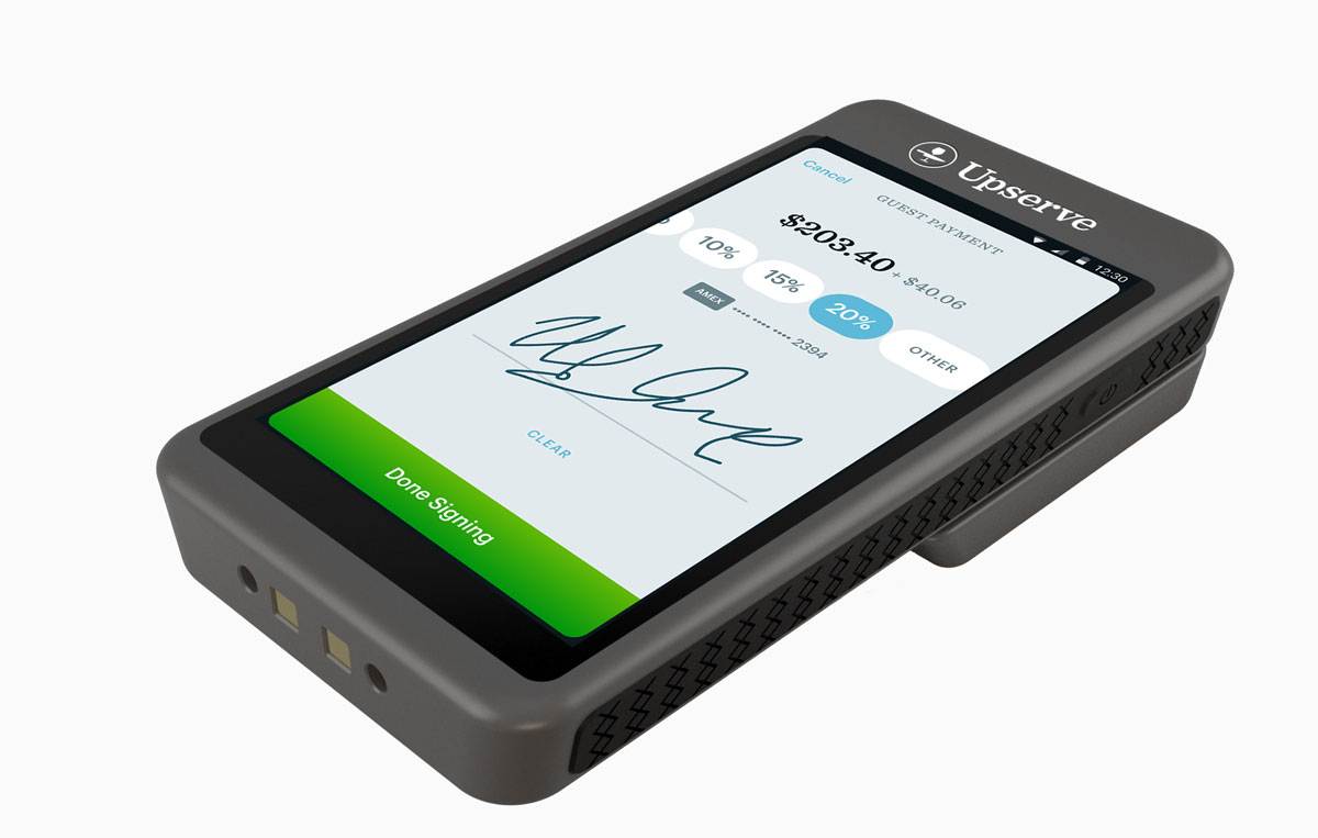 Signature on Mobile POS screen