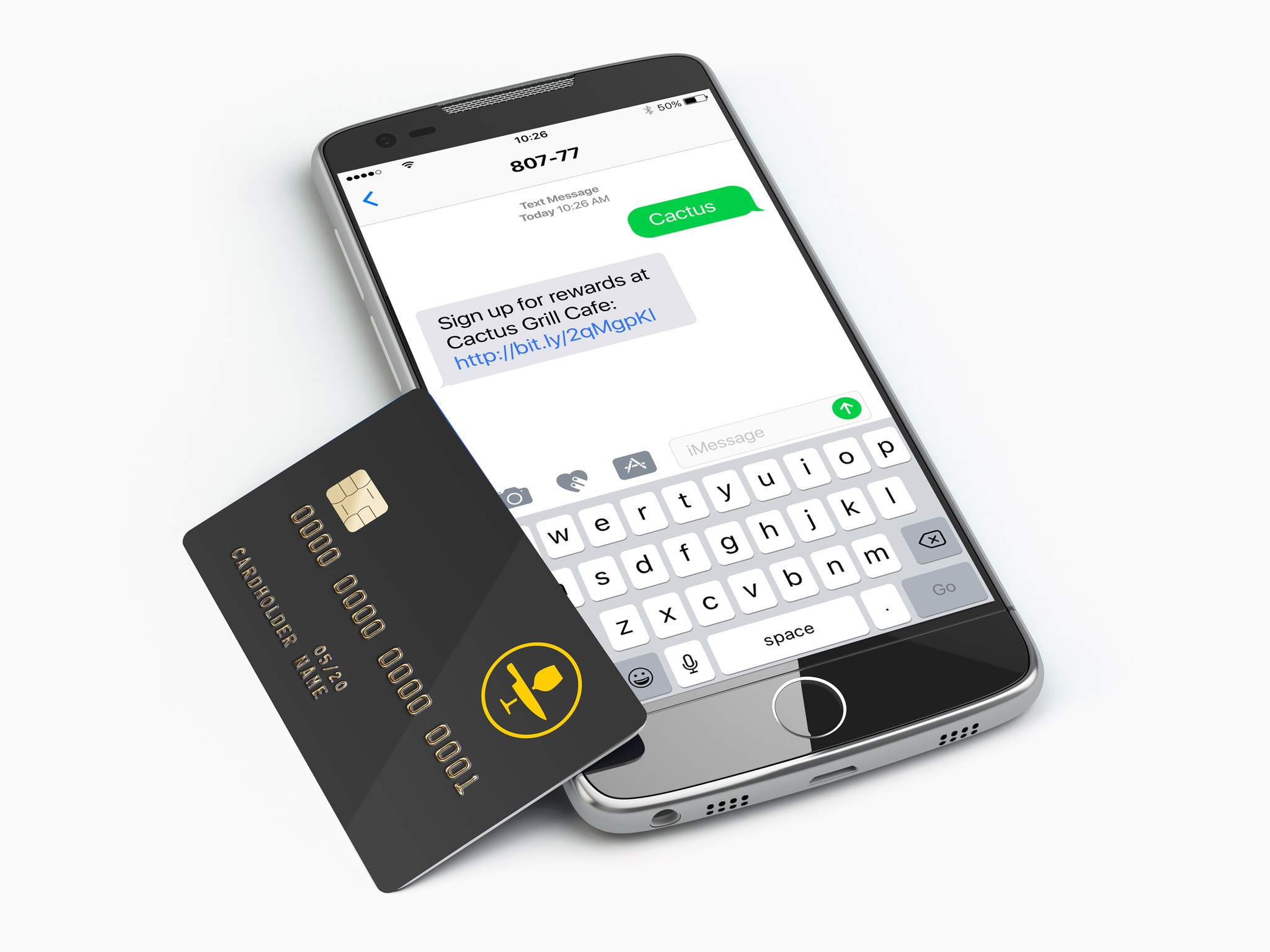 Upserve Loyalty Program on Phone with Card