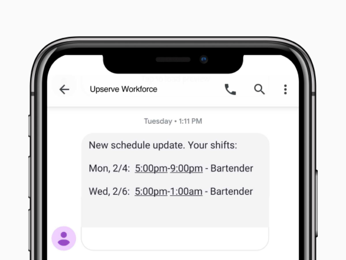 Employee Scheduling on Mobile